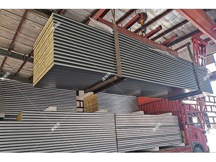 北京钢结构用50mm彩钢岩棉夹芯板选津双达